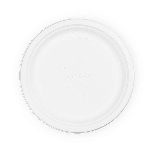 Šķīvis no cukurniedrēm, 250 mm, iesaiņots 50 gabali