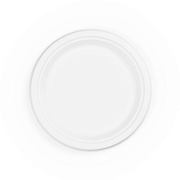 Sugarcane/bagasse plate, lightweight, 228 mm, 50 pcs per pack