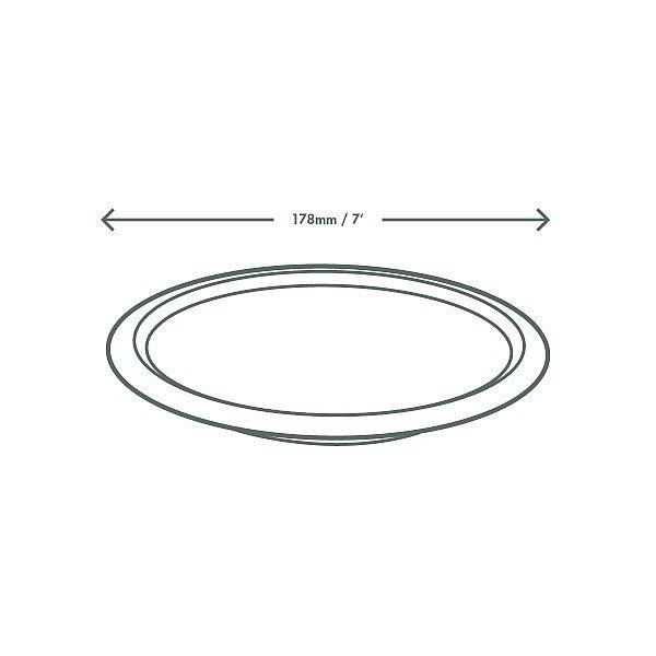 Облегчённая тарелка из сахарного тростника, 180 мм, в пачке 50 шт