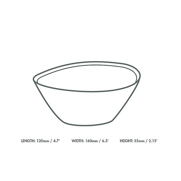 Zupas šķīvis no palmu lapām, 150 mm, iesaiņots 25 gabali