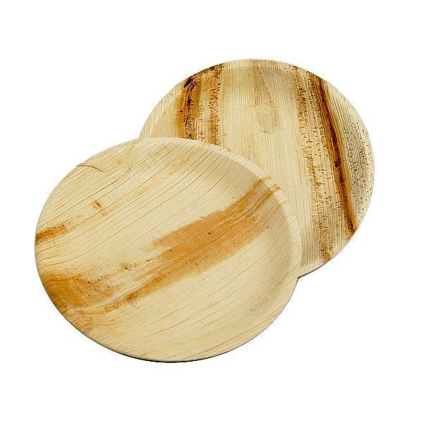 Apaļš šķīvis no palmu lapām, 180 mm, iesaiņots 25 gabali