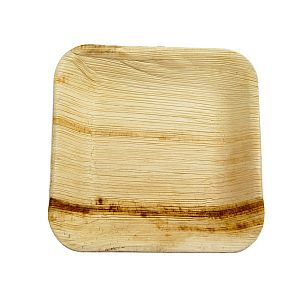 Palm leaf plate, square, 177 mm, 25 pcs per pack