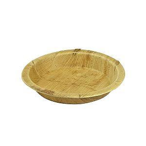 Apaļš šķīvis no palmu lapām, 200 mm, iesaiņots 25 gabali