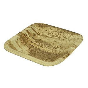 Četrstūra šķīvis no palmu lapām, 200 x 200 mm, iesaiņots 25 gabali