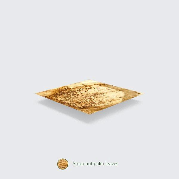 Квадратная тарелка из пальмовых листьев, 200 x 200 мм, в пачке 25 шт