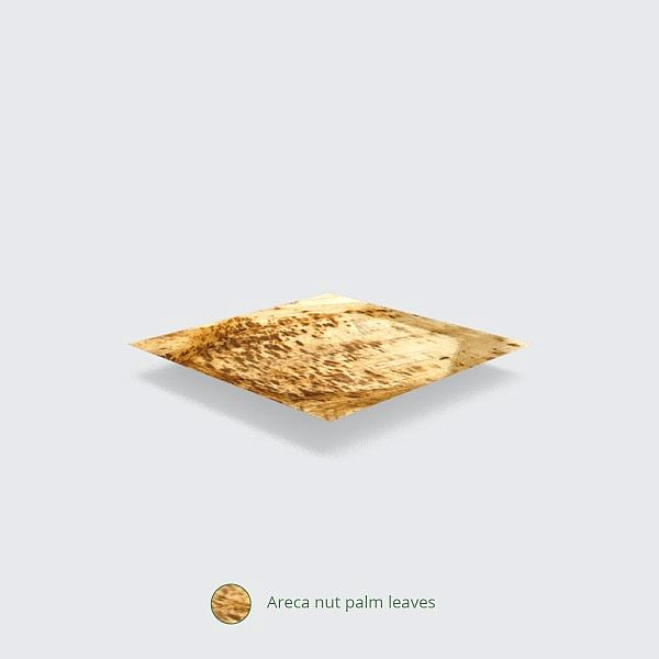 Palm leaf plate, square, 254 mm, 25 pcs per pack
