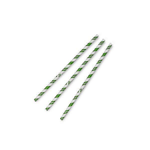 """Соломинка """"Jumbo"""" с зеленой полосой, 8 мм, в пачке 200 шт"""