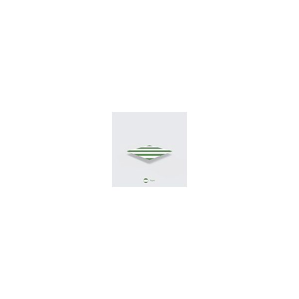 """Бумажная соломинка """"Jumbo"""" с зеленой полосой, 8 мм, в пачке 200 шт"""