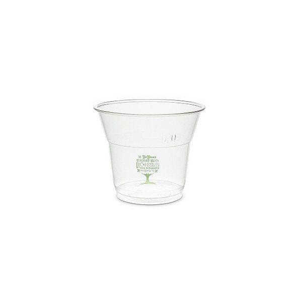"""Aukstiem dzērieniem paredzētā glāze """"Green Tree"""" no kukurūzas cietes 150 ml, 76. sērija, iesaiņots 50 gabali"""