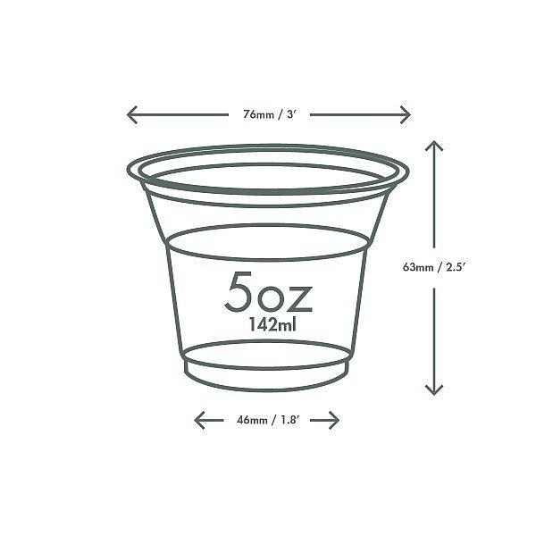 Külma joogitops, PLA, 150 ml, 76-seeria, pakis 50 tk