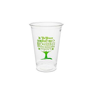 PLA cold cup, 270 ml, Green Tree, 76-series, 50 pcs per pack