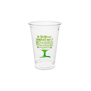 """Aukstiem dzērieniem paredzēta glāze """"Green Tree"""" no kukurūzas cietes 280 ml, 76. sērija, iesaiņots 50 gabali"""