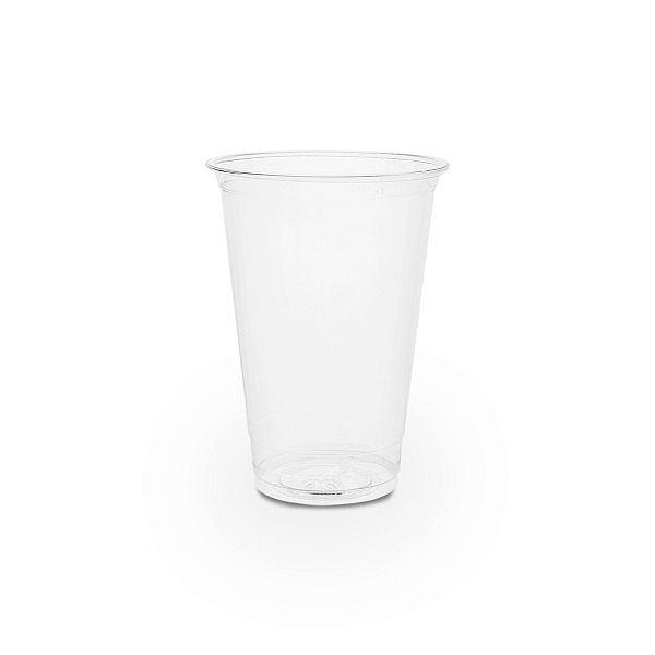Aukstiem dzērieniem paredzēta glāze bez zīmējuma no kukurūzas cietes, 280 ml, 76. sērija, iesaiņots 50 gabali