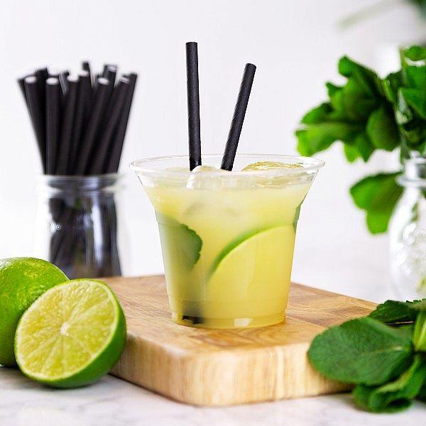 Aukstiem dzērieniem paredzēta glāze bez zīmējuma no kukurūzas cietes, 300 ml, 96. sērija, iesaiņots 50 gabali