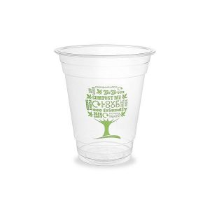 PLA cold cup, 360 ml, Green Tree,  96-series , 50 pcs per pack