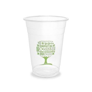 PLA cold cup, 480 ml, Green Tree, 96-series, 50 pcs per pack