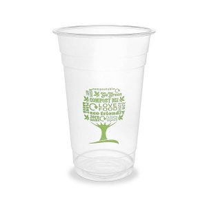 PLA cold cup, 600 ml, Green Tree, 96-series, 50 pcs per pack