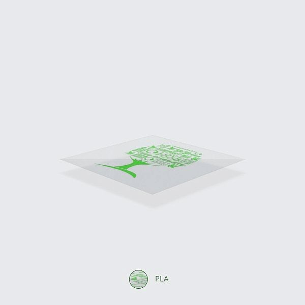Külma joogitops, PLA, 600 ml, roheline puu (Green Tree), 96-seeria, pakis 50 tk