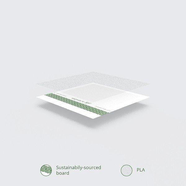 Контейнер круглый из белой бумаги с покрытием из кукурузного крахмала, 780 мл, серия 185, в пачке 50 шт