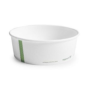 PLA-lined paper food bowl, 960 ml, 185-series, 50 pcs per pack