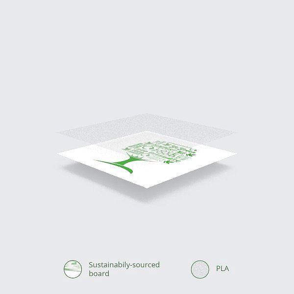 """Apaļš trauks """"Green Tree"""" no balta papīra ar pārklājumu no kukurūzas cietes, 240 ml, 90. sērija, iesaiņots 50 gabali"""
