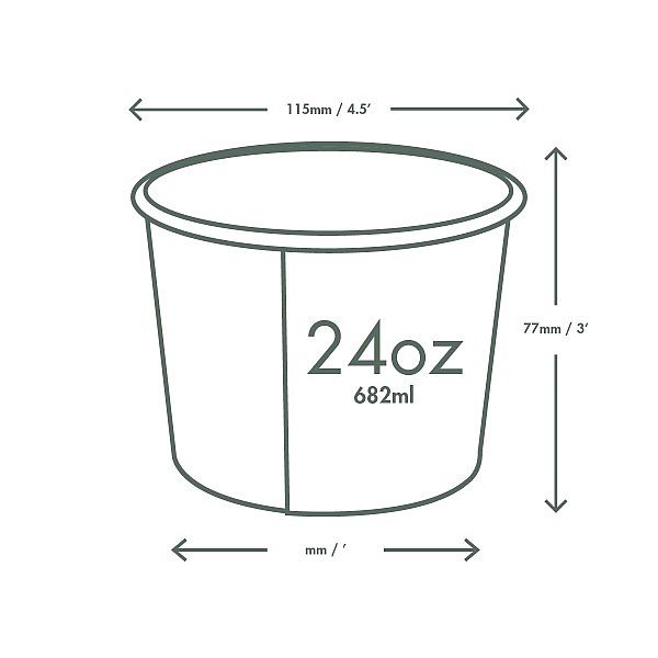 Soup container, 720 ml, Green Tree, 115-series, 25 pcs per pack