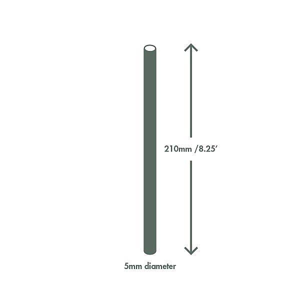 """Läbipaistev joogikõrs """"Standard"""" rohelise triibuga, PLA, 210 mm, pakis 400 tk"""
