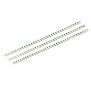 "Transparent straw ""Jumbo"" with a green stripe, PLA, 210 mm, 300 pcs per pack"