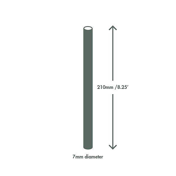 Трубочка из кукурузного крахмала, зелёная в полоску, 7 x 210 мм, в пачке 300 шт