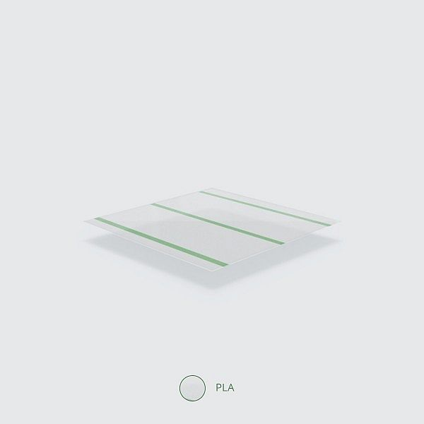 """Transparent straw """"Jumbo"""" with a green stripe, PLA, 210 mm, wrapped, 300 pcs per pack"""