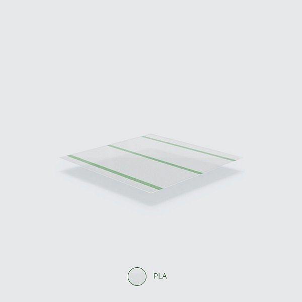 """Läbipaistev joogikõrs """"Jumbissimo"""" rohelise triibuga, PLA, 210 mm, pakis 120 120tk"""