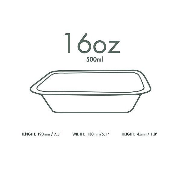 Trauks «Gourmet» bez vāka no cukurniedrēm, 480 ml, piemēroti 3. izmēra vāki, iesaiņots 50 gabali