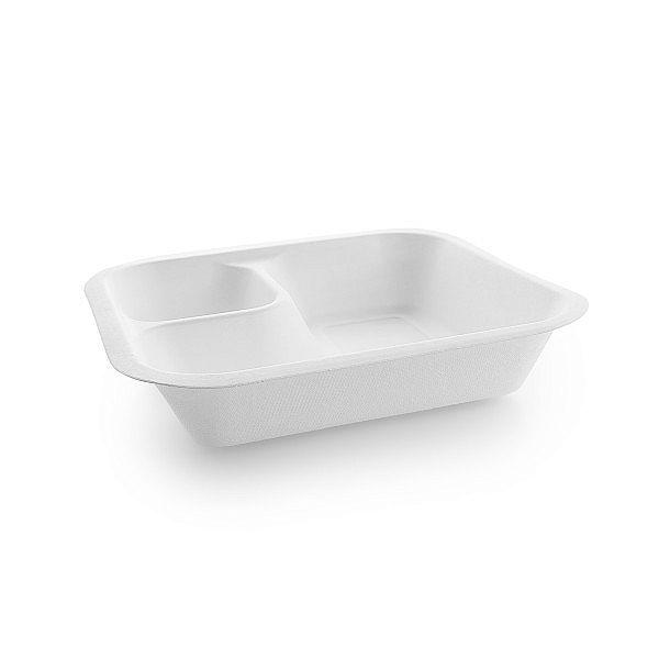 Контейнер «Гурмэ» без крышки с отсеком для соусов, подходят крышки размера 4, в пачке 50 шт