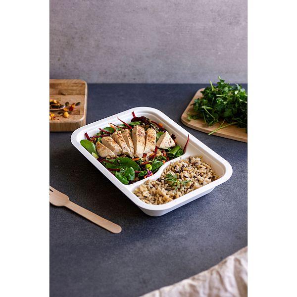 2 compartment gourmet base (fits lid 5), 50 pcs per pack