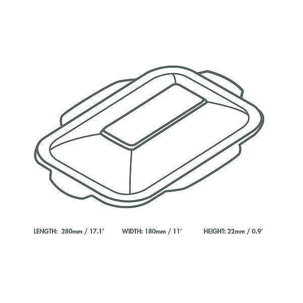 Sugarcane/bagasse gourmet lid, size 5, 50 pcs per pack