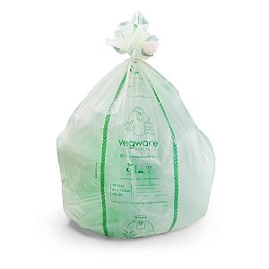 Completely compostable liner, 8L, 25 pcs per pack