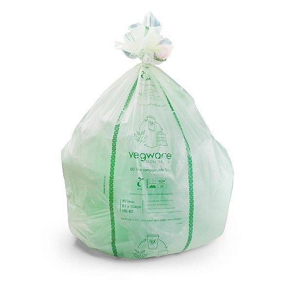 Completely compostable liner 80L, 20 pcs per pack