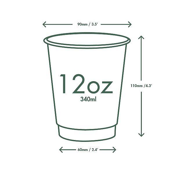 Topeltseinaga joogitops kraft paberist, 360 ml, Roheline puu (Green Tree), 89-seeria, pakis 25 tk
