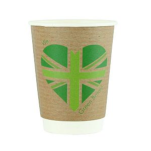 Double wall kraft cup, 360 ml, Green Britain, 89-series, 25 pcs per pack