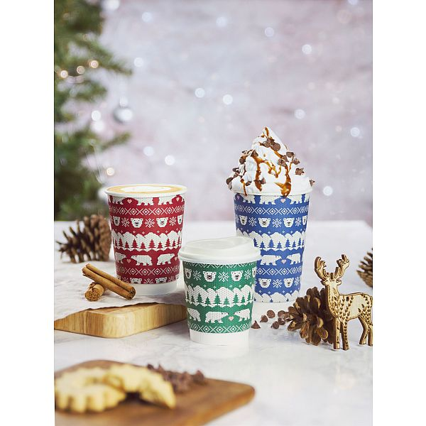 """Стакан """"Праздничные стаканчики"""" для горячих напитков, 480 мл, серия 89, в пачке 20 шт"""