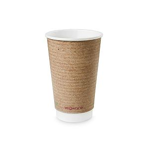 Double wall kraft cup, 480 ml, brown, 89-series, 20 pcs per pack