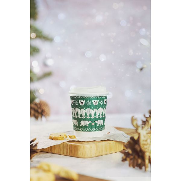"Hot drink cup, 240 ml, ""Festive cups"" 79-series, 25 pcs per pack"