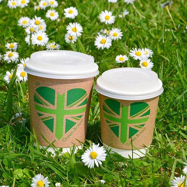 """Dubultsienu karstā dzēriena krūze """"Green Britain"""" ar pārklājumu no kukurūzas cietes, 240 ml, """"Green Britain"""", 79. sērija, iesaiņots 25 gabali"""