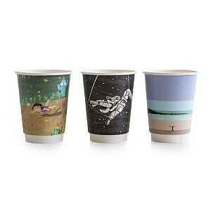 "Hot drink cup, 360 ml, ""Gallery"" 89-series, 25 pcs per pack, 25 pcs per pack"