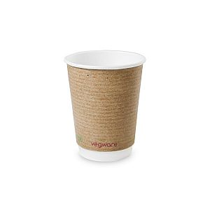 Double wall kraft cup, 360 ml, brown, 89-series, 25 pcs per pack