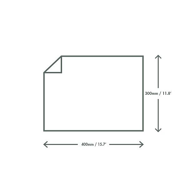 White greaseproof sheet – Bakery (400 x 300 mm ), 1000 pcs per pack