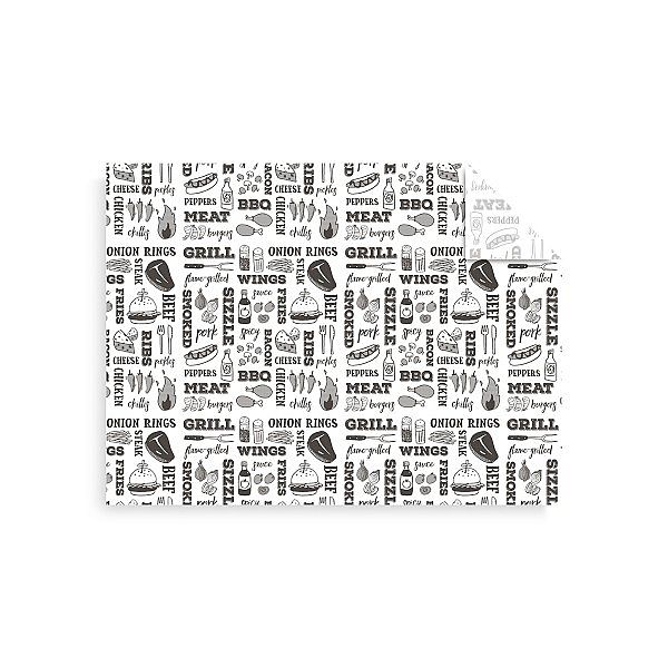 White greaseproof sheet – Grill (400 x 300 mm), 1000 pcs per pack