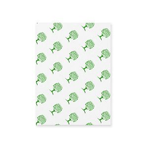 Greaseproof sheet (350 x 225 mm), Green Tree, 1000 pcs per pack