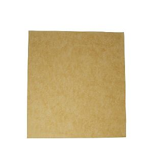 Unbleached greaseproof sheet (380 x 275 mm), 500 pcs per pack