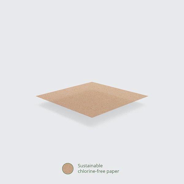 Unbleached greaseproof sheet (380 x 275 mm), 500 pcs per pack